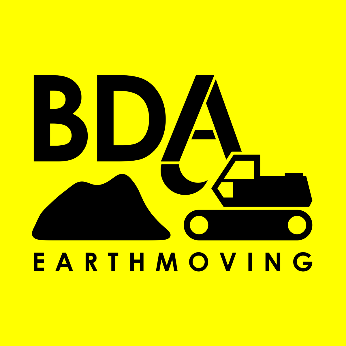 BDA Earthmoving Digging Building Contractor Logo - logo design by PixelDuck