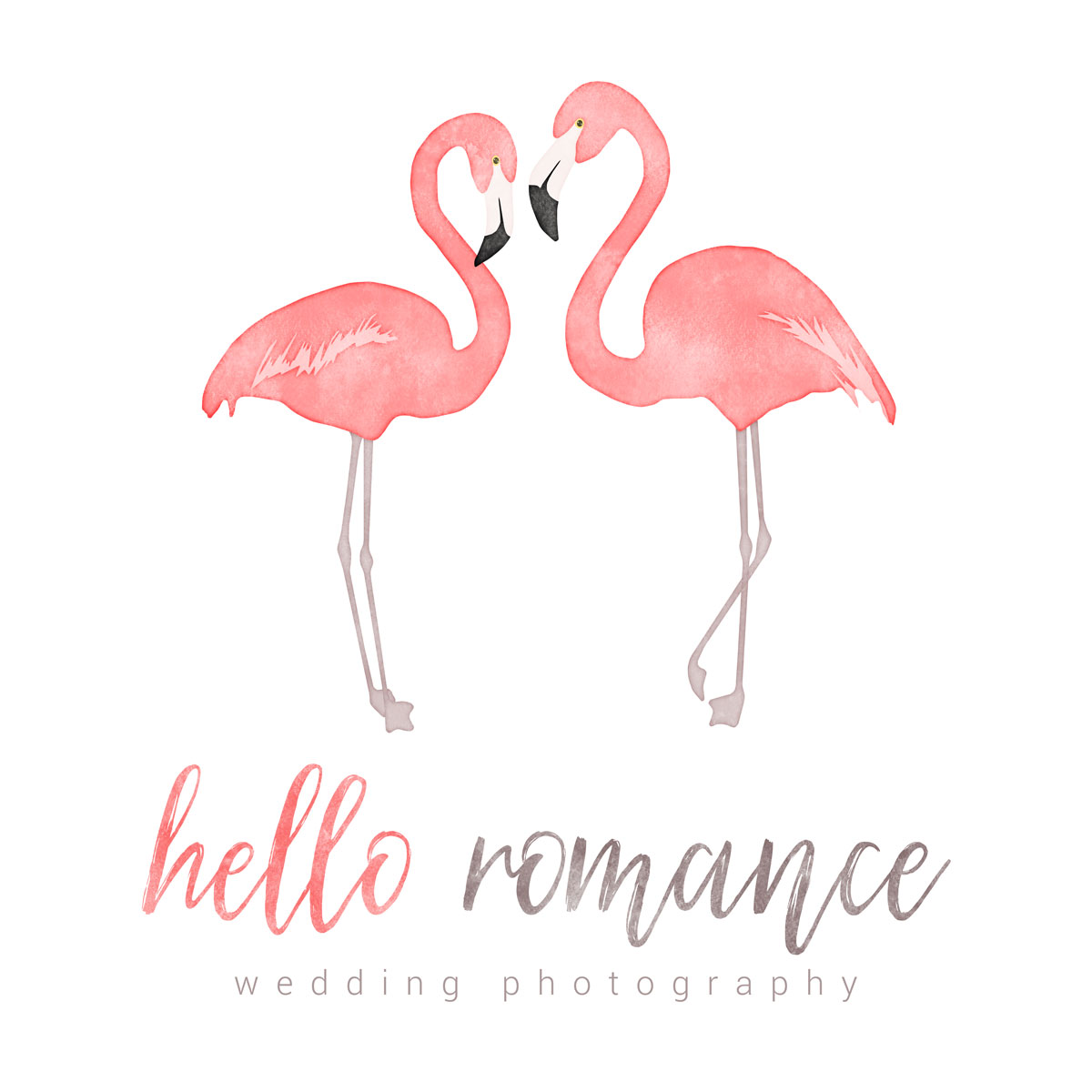 Hello Romance Wedding Photography Logo - logo design by PixelDuck
