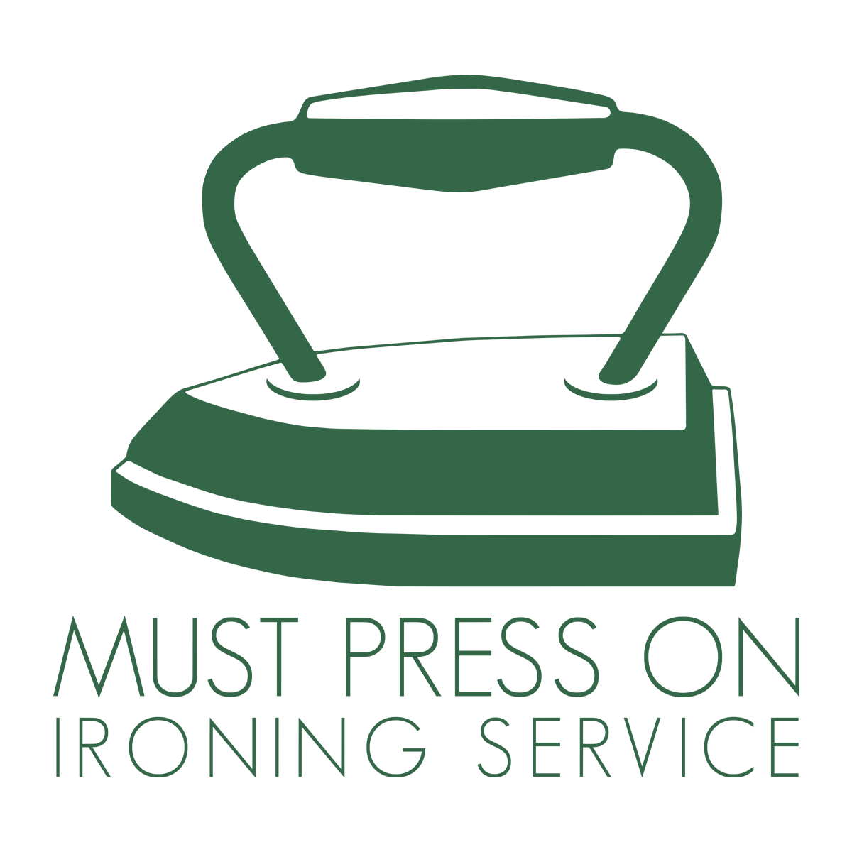 Must Press On Ironing Business Logo - logo design by PixelDuck