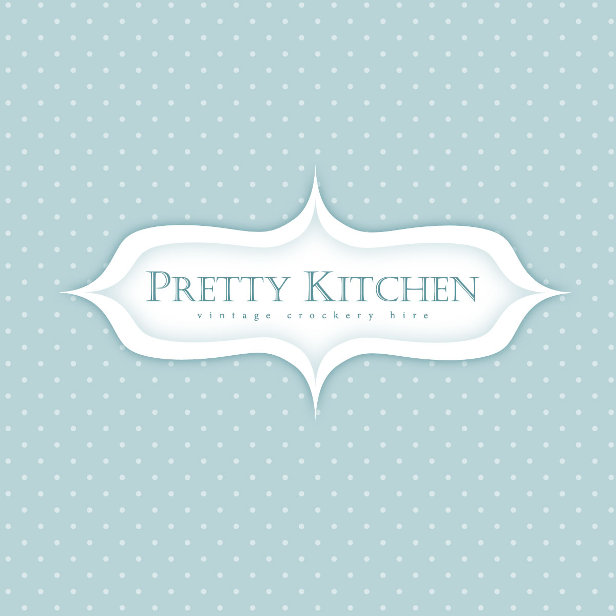 Pretty Kitchen Vintage Crockery Hire Business Logo - logo design by PixelDuck