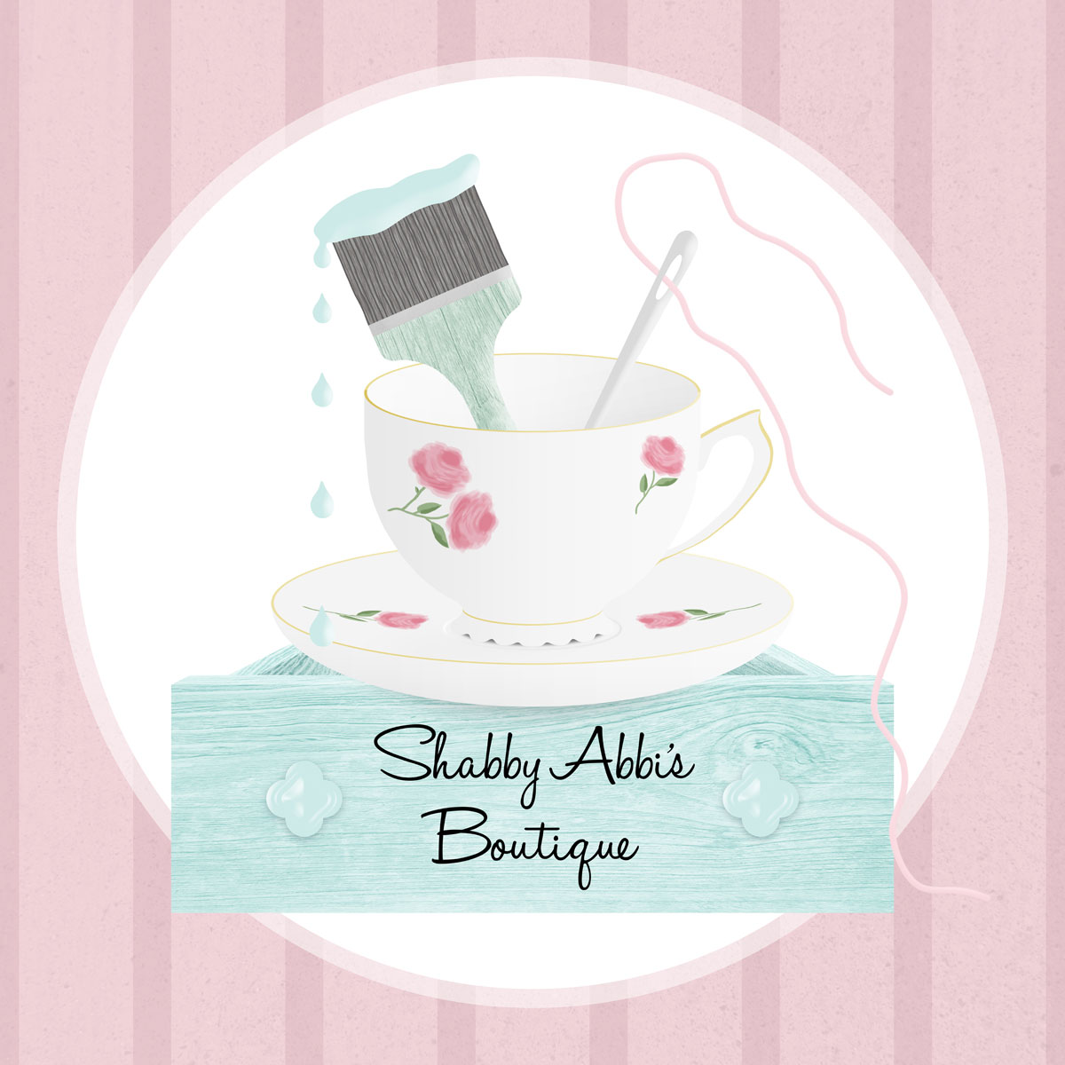 Shabby Abbi's Boutique - Vintage Business Logo - logo design by PixelDuck