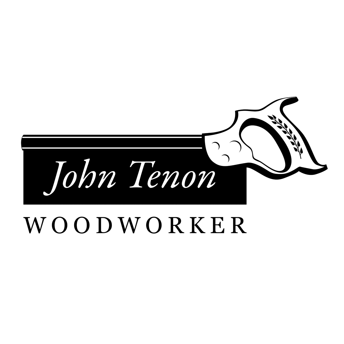 John Tenon Traditional Woodworker Logo - logo design by PixelDuck