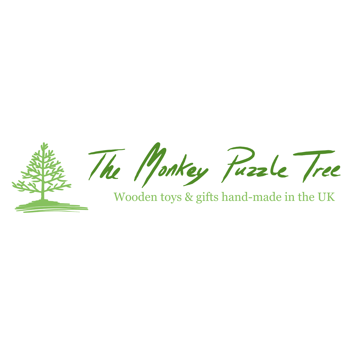 The Monkey Puzzle Tree Hand-Made Wooden Toys Logo - logo design by PixelDuck